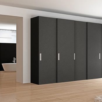 CLOSET-ARMARIO DE MDF COLOR NEGRO MATE